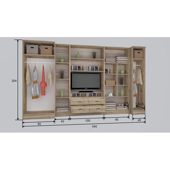 Royal RSK1 340 cm szekrénysor