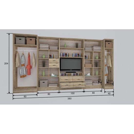 Royal RSK3 340 cm szekrénysor