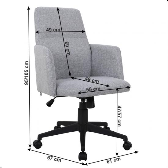 ILIAS Irodai szék, szürke/fekete