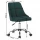 EDIZ Irodai szék, smaragd színű/króm